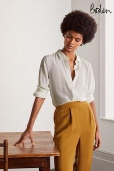 Boden ホワイト The Silk シャツ