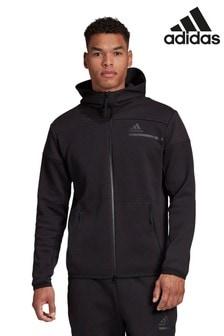 Черная толстовка на молнии с капюшоном adidas Z.N.E