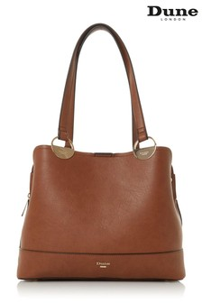 Dune London Tan Damine Synthetic Circle Trim Tote Bag