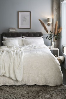 Freya Faux Fur Duvet Cover and Pillowcase Set