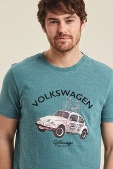 FatFace Blue VW Beetle Graphic T-Shirt
