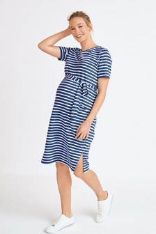 Maternity Belted Jersey Dress