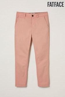 Pantaloni chino până la gleznă FatFace Devon Grazer roz