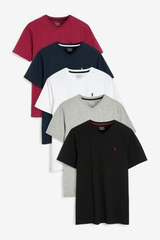 V-Neck T-Shirts 5 Pack