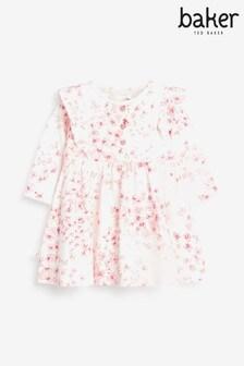 שמלה פרחונית של Baker By Ted Baker, בצבע ורוד