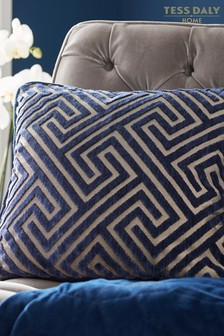 Tess Daly Greek Key Cushion