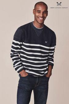 Crew Clothing Company ブルー Padstow クルーネック スウェットシャツ