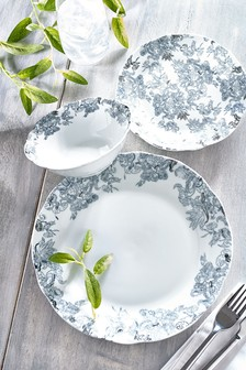12 Piece Blue Astrid Dinner Set