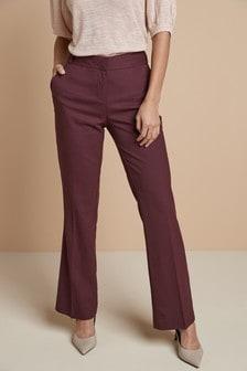 Pantalon bootcut ajusté