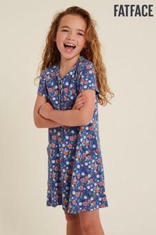 FatFace Blue Bee Print Jersey Dress