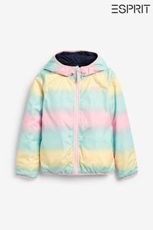 Темно-синяя/разноцветная двусторонняя куртка Esprit