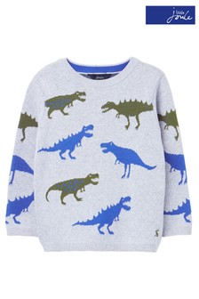 Joules Grey Branford All Over Pattern Jumper