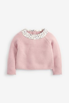 Ruffle Collar Jumper (3mths-7yrs)
