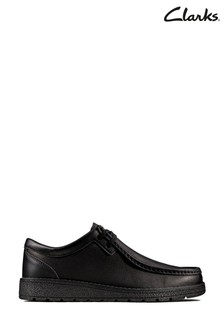 Clarks Youth Black Mendip Craft Shoe