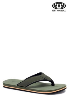 Animal Dusty Olive Green Bazil Flip Flops