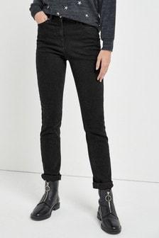 Мягкие зауженные джинсы комфортной посадки