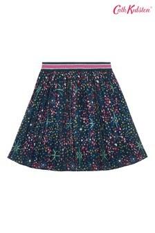 Cath Kidston® Blue Pleated Skirt