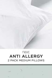 Set mit 2 antiallergischen und antibakteriellen Kissen, mittelgroß