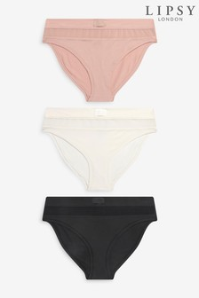 Lipsy Supersoft Mesh 3 Pack Knickers