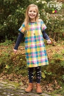 Frugi GOTS Organic Chambray, Check and Pony Reversible Dress