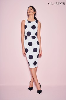 שמלת סקובה עם נקודותמבד מעובה שלKhost Glamour
