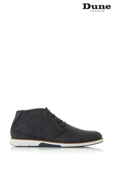 Dune London Collide Navy Nubuck Chukka Boots