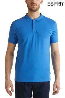 Esprit Blue Pique Poloshirt