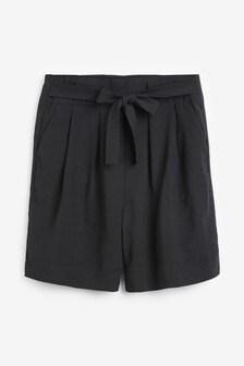 Bermuda-Shorts mit hohem Bund