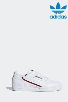 Белые/красные кроссовки adidas Originals Continental 80