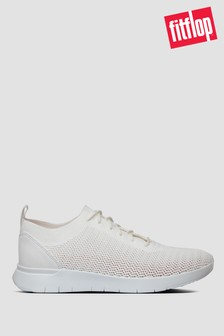 FitFlop™ White Flexknit Sneakers
