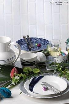 Набор из 6 синих тарелок Royal Doulton Pacific (23 см)