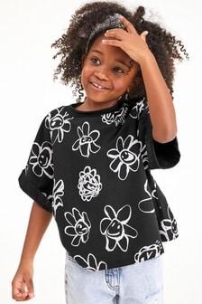 Mono Floral Boxy T-Shirt (3-16yrs)