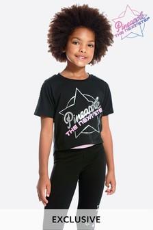 Черная короткая футболка Pineapple The Next Step