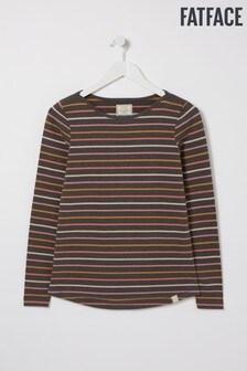 FatFace Grey Organic Cotton Multi Breton T-Shirt