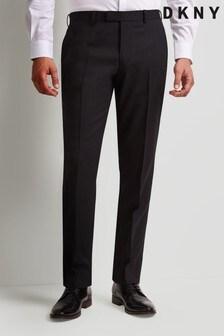 DKNY Black Slim Fit Dress Trousers