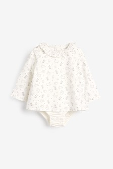 Woven Bunny Print Integrated Body (0mths-3yrs)