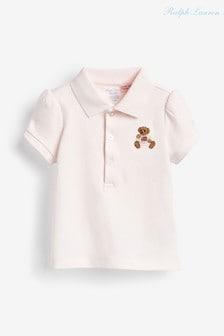 Розовое поло Ralph Lauren