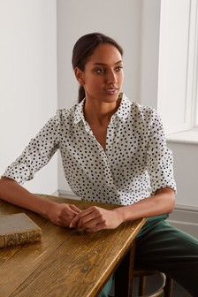 Boden White The Silk Shirt