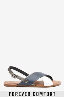 Forever Comfort® Sling-Pumps mit überkreuztem Design vorne