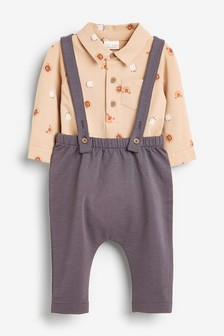 Комплект из рубашки-боди и брюк (0 мес. - 2 лет)