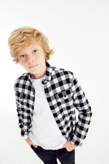 חולצה משובצת עם שרוולים ארוכים (גילאי 3 עד 16)