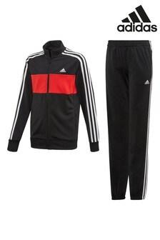 Черно-красный спортивный костюм adidas Tiberio