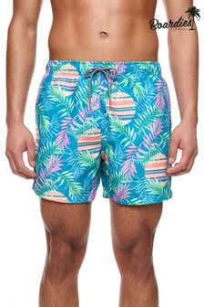 Boardies Rising Palm Short Length Swim Shorts