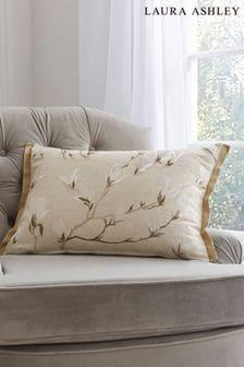 Laura Ashley Natural Magnolia Grove Cushion