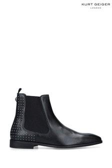 Kurt Geiger London Freddie Chelsea Stud Black Boots