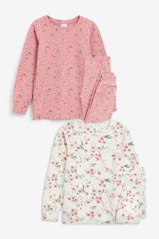 2 Pack Oriental Floral Snuggle Pyjamas (3-16yrs)