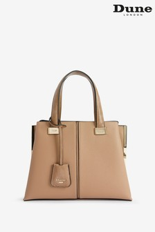 Dune London Camel Dinidavard Synthetic Boxy Tote Bag