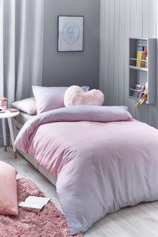 Pink Magical Ombre Glitter Duvet Cover And Pillowcase Set