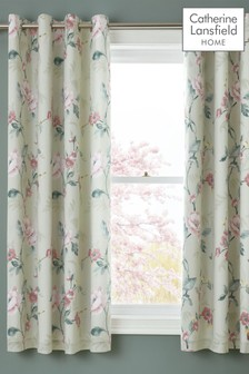 Catherine Lansfield Floral Trail Eyelet Curtains