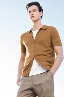 Рубашка поло с сквозной застежкой на пуговицы